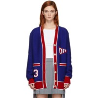 Off White Blue And Red Flag Cardigan