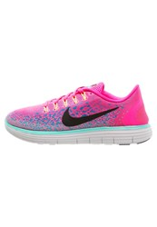 Nike Performance Free Run Distance Trainers Hyper Pink Black Blue Glow Hyper Turquoise Offwhite Neon Pink