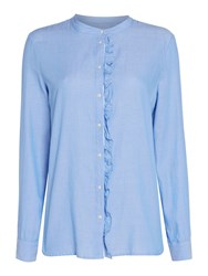 Part Two Frill Packet Blouse Blue