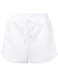 Versace Jeans Mesh Track Shorts White