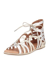 Gentle Souls Break My Heart Flat Gladiator Sandal Multi Gold