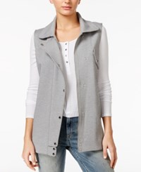Guess Kingston Moto Vest Heather Light Grey Multi