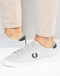 Fred Perry Spencer Canvas Trainers Grey