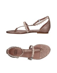Gianna Meliani Toe Strap Sandals Copper