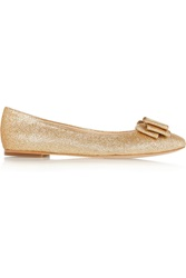 Lucy Choi London Monaco Glitter Finished Leather Ballet Flats