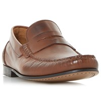 Bertie Primus Leather Penny Loafers Tan