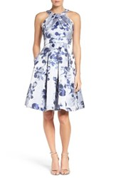 Eliza J Women's Floral Fit And Flare Dress