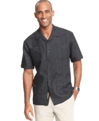 Cubavera Shirt Short Sleeved Guayabera Shirt Black