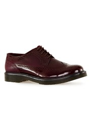 Topman Red Burgundy Leather Brogues