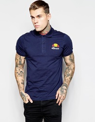 Ellesse Polo Shirt With Taping Navy