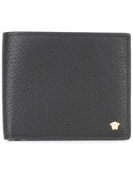 Versace Textured Billfold Wallet Black