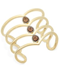Inc International Concepts Gold Tone Pave Teardrop Wide Cuff Bracelet Only At Macy's