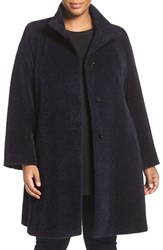Cinzia Rocca Due Plus Size Women's Wool And Alpaca A Line Coat