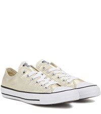 Converse Chuck Taylor All Star Ox Metallic Leather Sneakers Gold