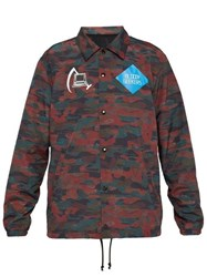 Undercover Camouflage Print Computer Patch Jacket Red