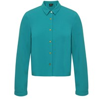 Emily Lovelock Crop Shirt With Sleeves Green