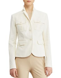 Lauren Ralph Lauren Herringbone Safari Jacket Herbal Milk