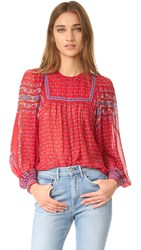 Ulla Johnson Minou Blouse Scarlet