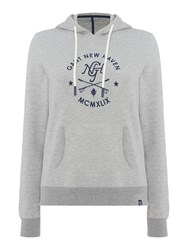 Gant Sporty Logo Hooded Sweatshirt Grey