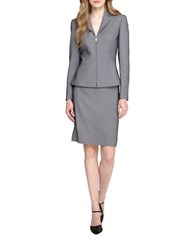 Tahari By Arthur S. Levine Zip Front Peplum Jacket And Skirt Suit Set Black White