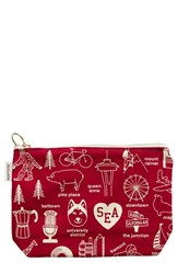 Maptote 'Seattle' Canvas Zip Pouch Red