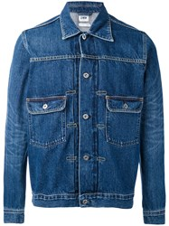 Edwin Denim Jacket Men Cotton S Blue