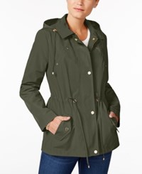Charter Club Petite Anorak Rain Jacket Created For Macy's Region Green