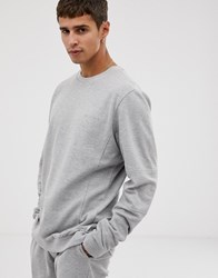 Bellfield Panelled Cotton Sweat In Grey