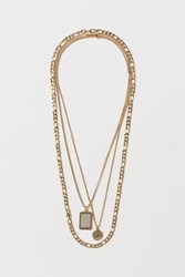 Handm H M 3 Pack Necklaces Gold