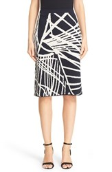Lafayette 148 New York Women's Spindled Jacquard Skirt