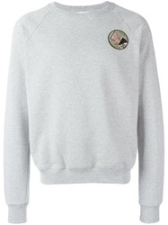 Saint Laurent Never Say Never Applique Sweatshirt Grey