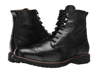 Massimo Matteo Perf Wing Boot Black Men's Lace Up Boots