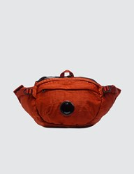 C.P. Company Cp Garment Dyed Nylon Sateen Lens Waist Bag Orange