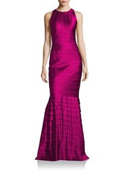 Kay Unger Layered Cutout Mermaid Gown Berry