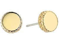 Cole Haan Small Round Disc Stud Earrings Gold Earring