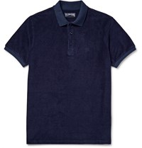 Vilebrequin Cotton Blend Terry Polo Shirt Blue