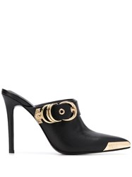 Versace Jeans Couture Buckle Embellished Mules 60