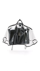 The Handbag Raincoat Medium City Slicker Handbag Raincoat Clear Black