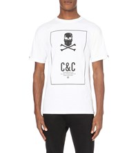 Crooks And Castles Skull Printed Cotton Jersey T Shirt White