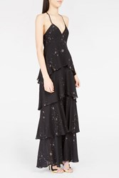 A.L.C. Women S Alexa Tiered Ruffle Dress Boutique1 Black
