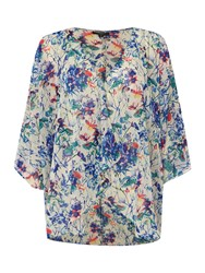 Therapy Faith Floral Print Longline Kimono Multi Coloured
