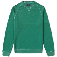Barbour Garment Dyed Crew Sweat Green