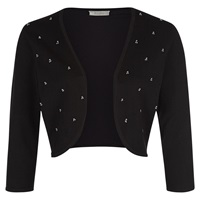 Kaliko Pearl Detail Shrug Black