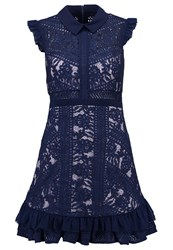 Three Floor Juniper Summer Dress Navy Lilac Blue