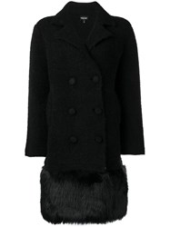Emporio Armani Short Double Breasted Coat Black