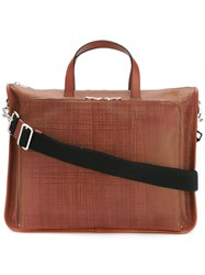 Loewe Laptop Case With Removable Shoulder Strap Brown