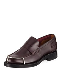 Alexander Wang Carter Halo Toe Penny Loafers Dark Red