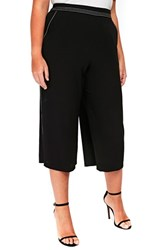 Evans Plus Size Contrast Stitch Crop Trousers