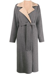 Givenchy Reversible Belted Coat Grey