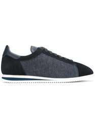 Brunello Cucinelli Denim Laterals Lace Up Sneakers Blue